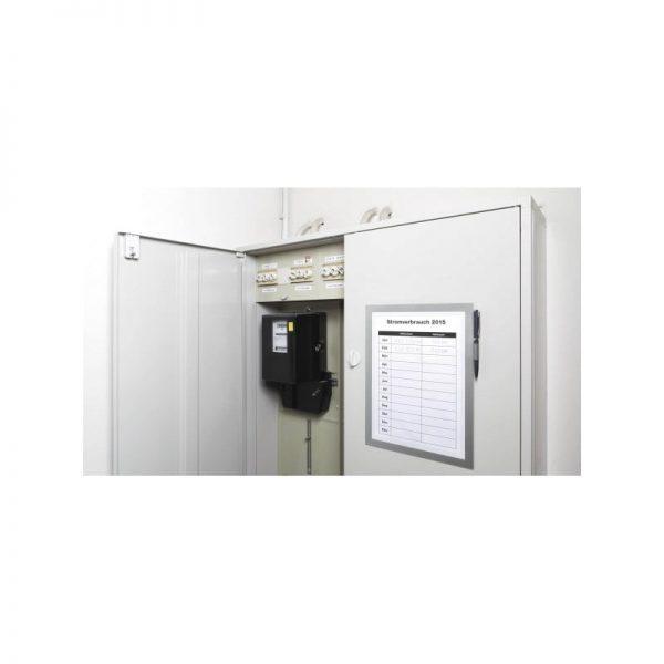 Duraframe magnetic Note, format A4, culoare gri, 1 bucata/set