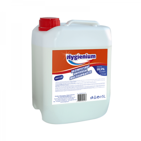 Dezinfectant universal multisuprafete Hygienium, 5l - Distruge bacterii/fungi/virusii - produs BIOCID