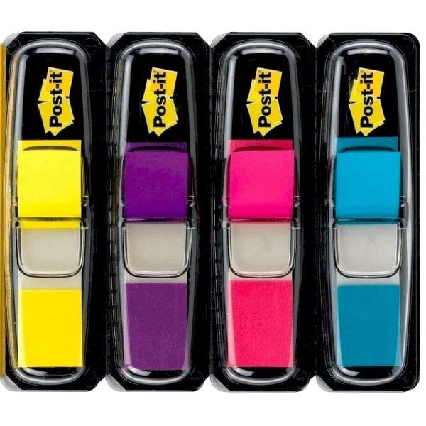 Index Post-it® Mini, 11.9 x 43.2 mm, 4 culori/set
