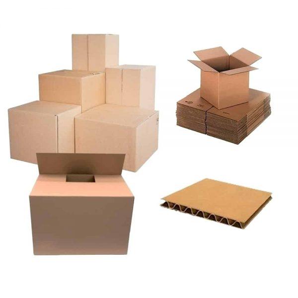 Cutii pliate din carton, 350 x 260 x 200 mm, 10 bucati/set