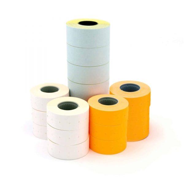 Etichete albe Apli, 1000 buc/rola, 21x12mm, 6role/set