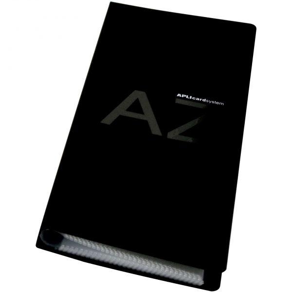 Clasor pentru carti de vizita Apli, negru, 275x120mm, coperti PVC, 160 pozitii