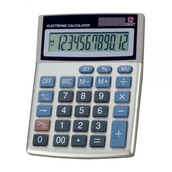 Calculator de birou Memoris-Precious M12D, 12 cifre, alimentare cu baterie+solar