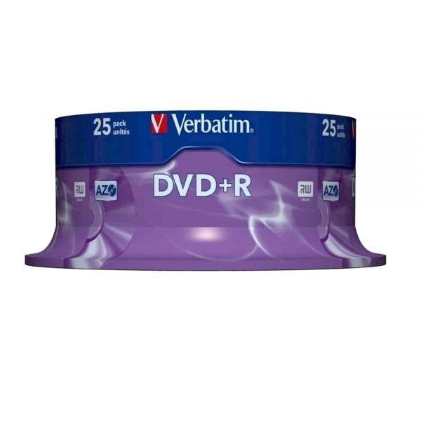 DVD+R Verbatim 16x, 4.7GB, 120 min, 25 buc/cake