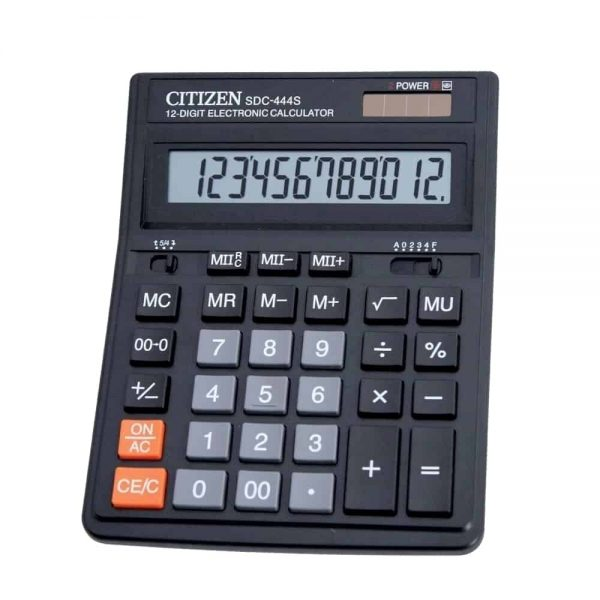 Calculator Citizen SDC-444S, 12 digiti, dual power