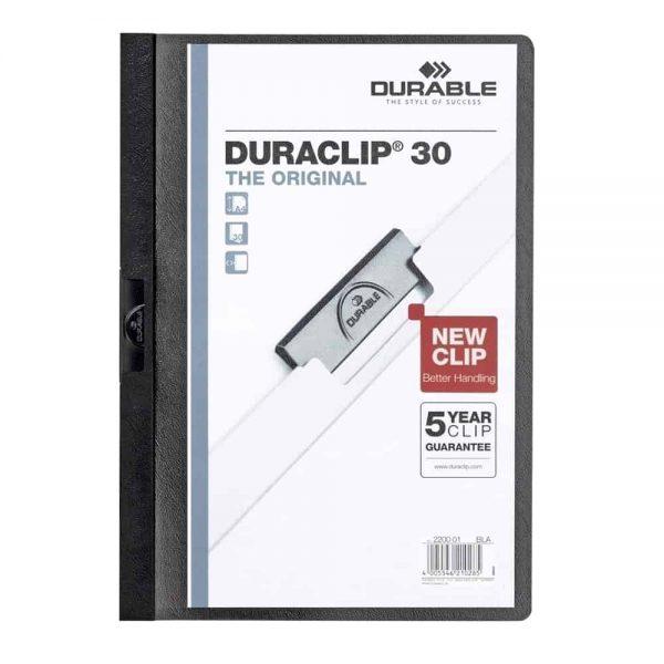Dosar de prezentare Durable Duraclip, 30 coli, negru