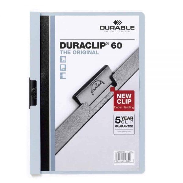 Dosar de prezentare Durable Duraclip, 60 coli, albastru