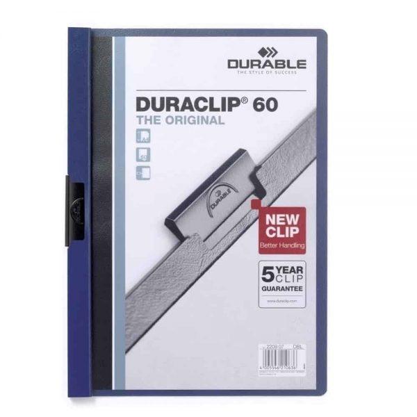 Dosar de prezentare Durable Duraclip, 60 coli, albastru inchis