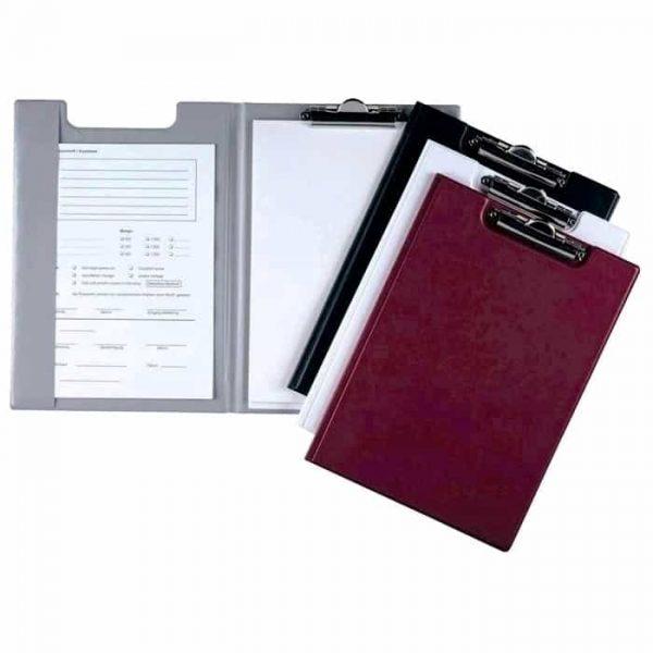 Clipboard Durable, negru, dublu, A4, carton plastifiat