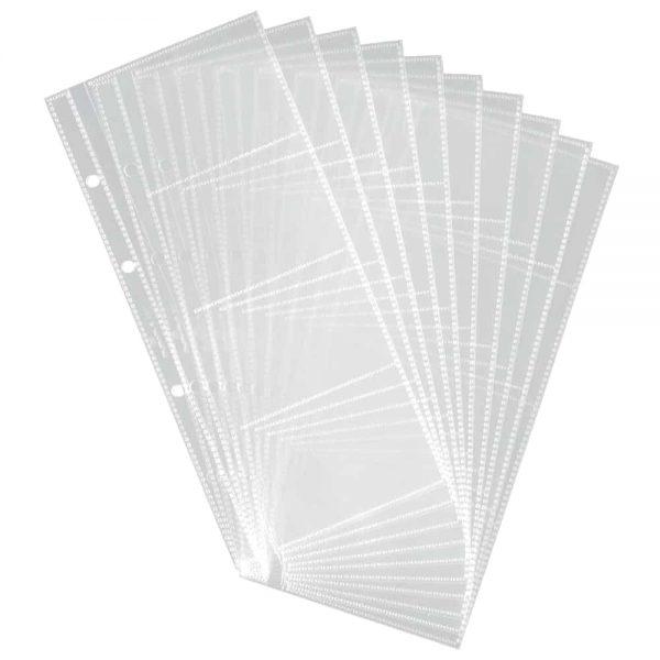Rezerva clasor pentru carti de vizita Durable, transparent, 80 pozitii, PVC, 10buc/set