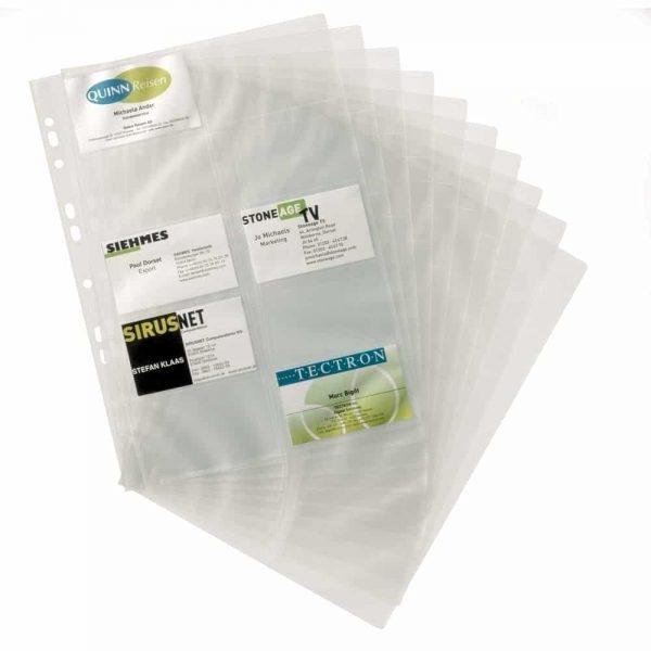 Rezerva clasor pentru carti de vizita Durable, transparent, 200 pozitii, PVC, 10buc/set