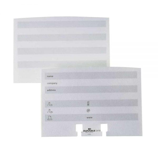 Rezerva suport pentru adrese Durable, alba,, hartie, 100buc/set