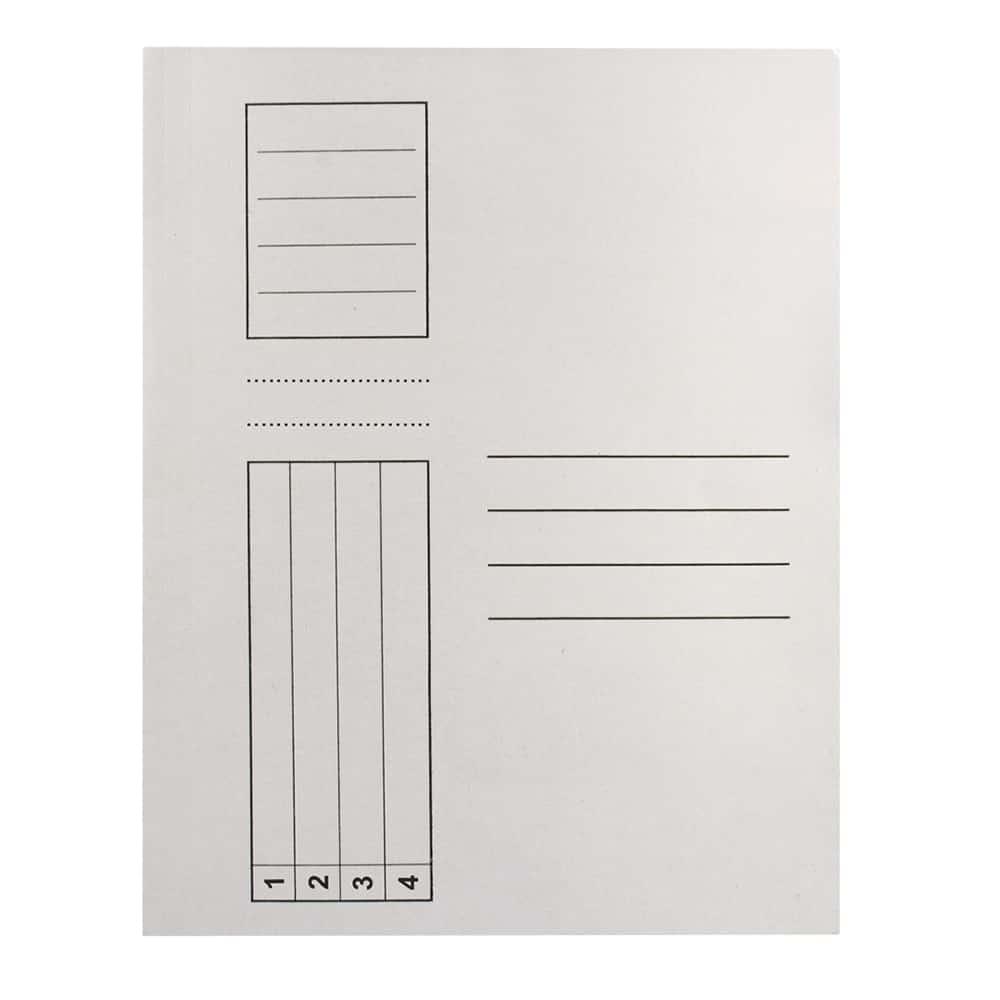 Dosar Standard, alb, cu sina, A4, carton, 10 buc/pach