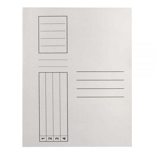 Dosar Standard, alb, cu sina, A4, carton, 100buc/set