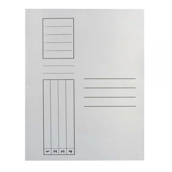 Dosar Standard, alb, simplu, A4, carton, 10buc/set