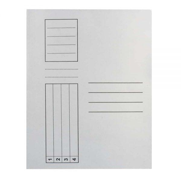 Dosar Standard, alb, simplu, A4, carton, 100buc/set