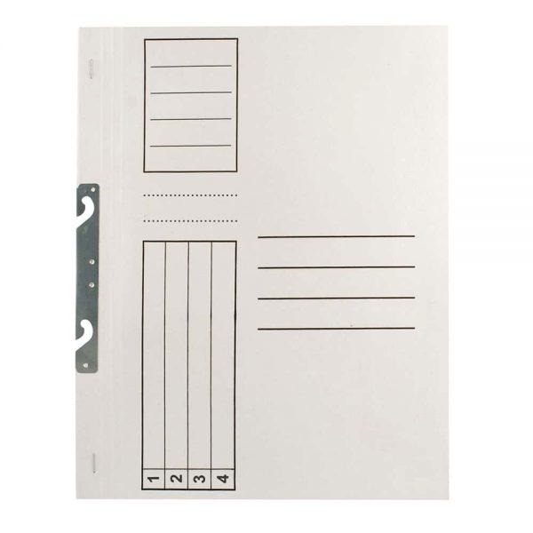 Dosar Standard, alb, incopciat 1/1, A4, carton, 10 buc/pach
