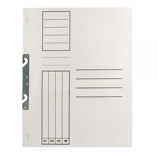 Dosar carton de incopciat 1/1, alb, 100 buc/set