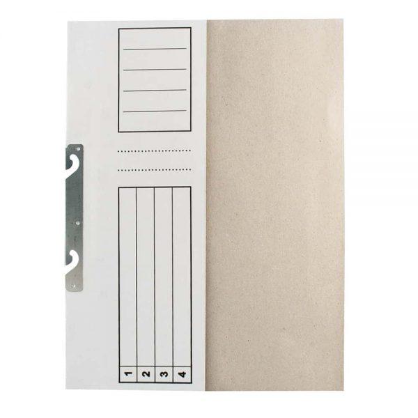 Dosar  Standard alb, incopciat 1/2, A4, carton, 10 buc/pach