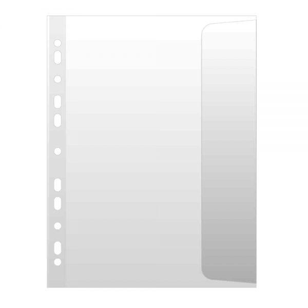 File de protectie cu clapa laterala, A4, orange peel, 100 microni, 10 buc/set