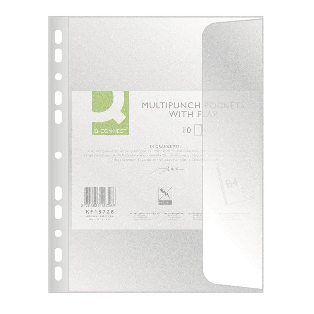 File protectie Donau, B4, clapa laterala, 100 microni, 10 bucati/set