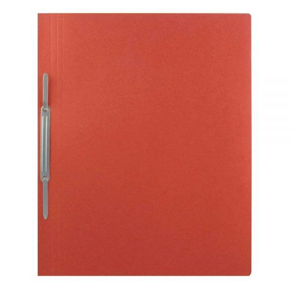Dosar carton color cu sina, 250 g/mp, rosu, 10 buc/set