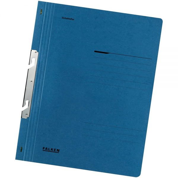 Dosar de incopciat 1/1 Lux Falken, carton, 250 g/mp, albastru