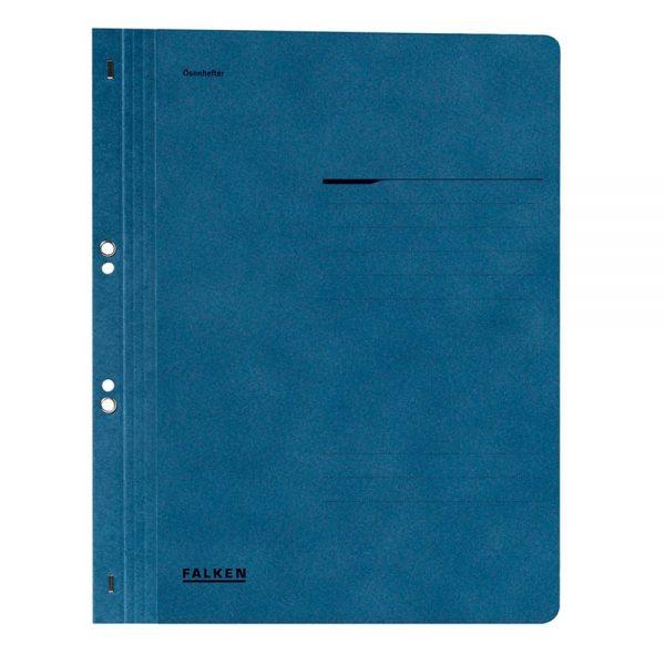 Dosar cu gauri 1/1 Lux Falken, carton, 250 g/mp, albastru