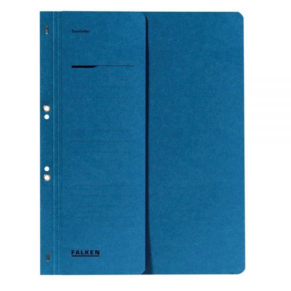 Dosar cu gauri 1/2 Lux Falken, carton, 250 g/mp, albastru