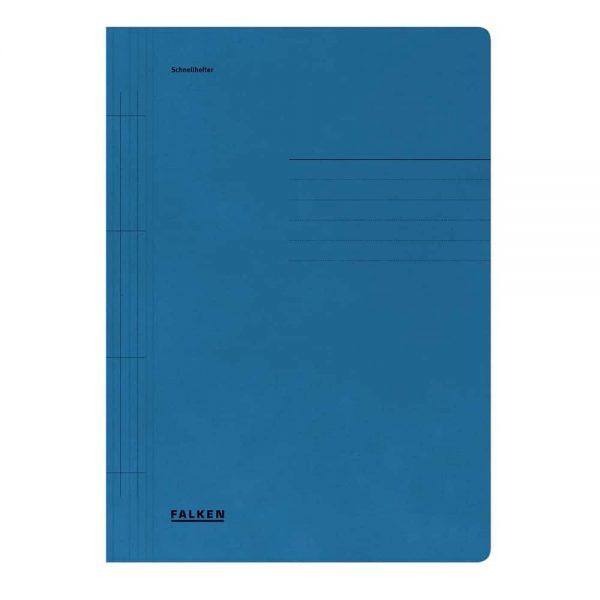Dosar cu sina Lux Falken, carton, 250 g/mp, albastru