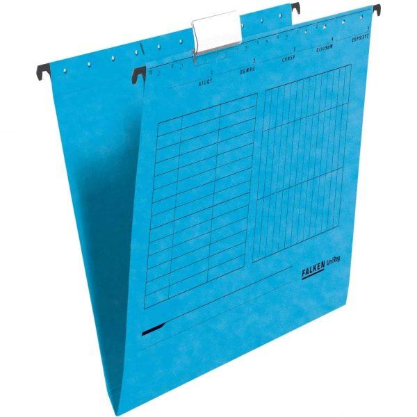 Dosar suspendabil Falken, carton, albastru, 25 bucati/cutie