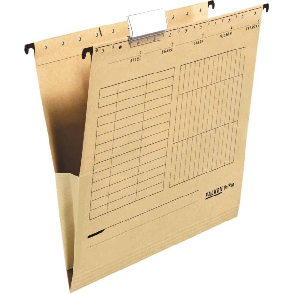 Dosar suspendabil plic Falken, carton, kraft, 25 bucati/cutie