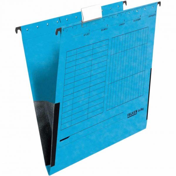 Dosar plic Falken, carton, albastru, 25 bucati/cutie