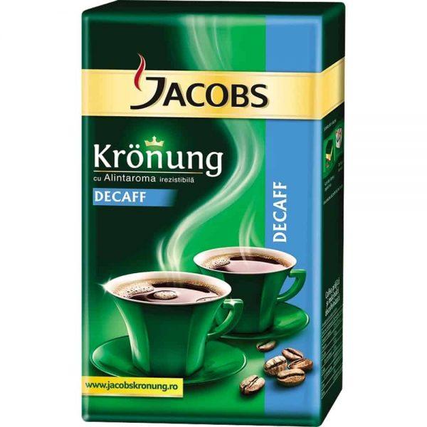 Cafea macinata Jacobs Kronung,decofeinizata 250 g