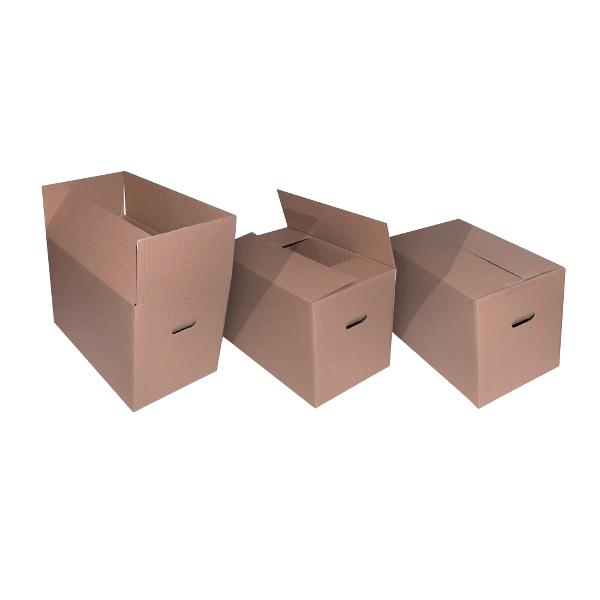 Cutii pliate cu manere, 550 x 320 x 350 mm, 10 bucati/set