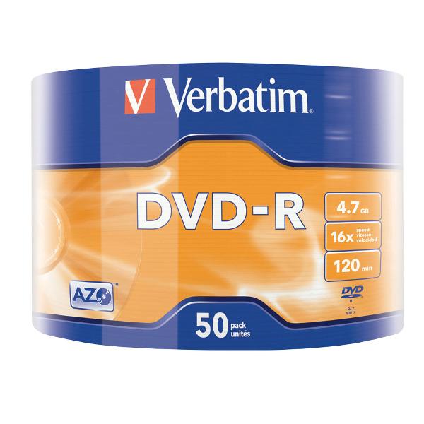 DVD-R Verbatim 16x, 4.7 GB, 50 bucati/shrink