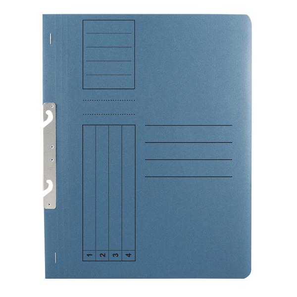 Dosar incopciat 1/1 Basic, carton, albastru, 10 bucati/set