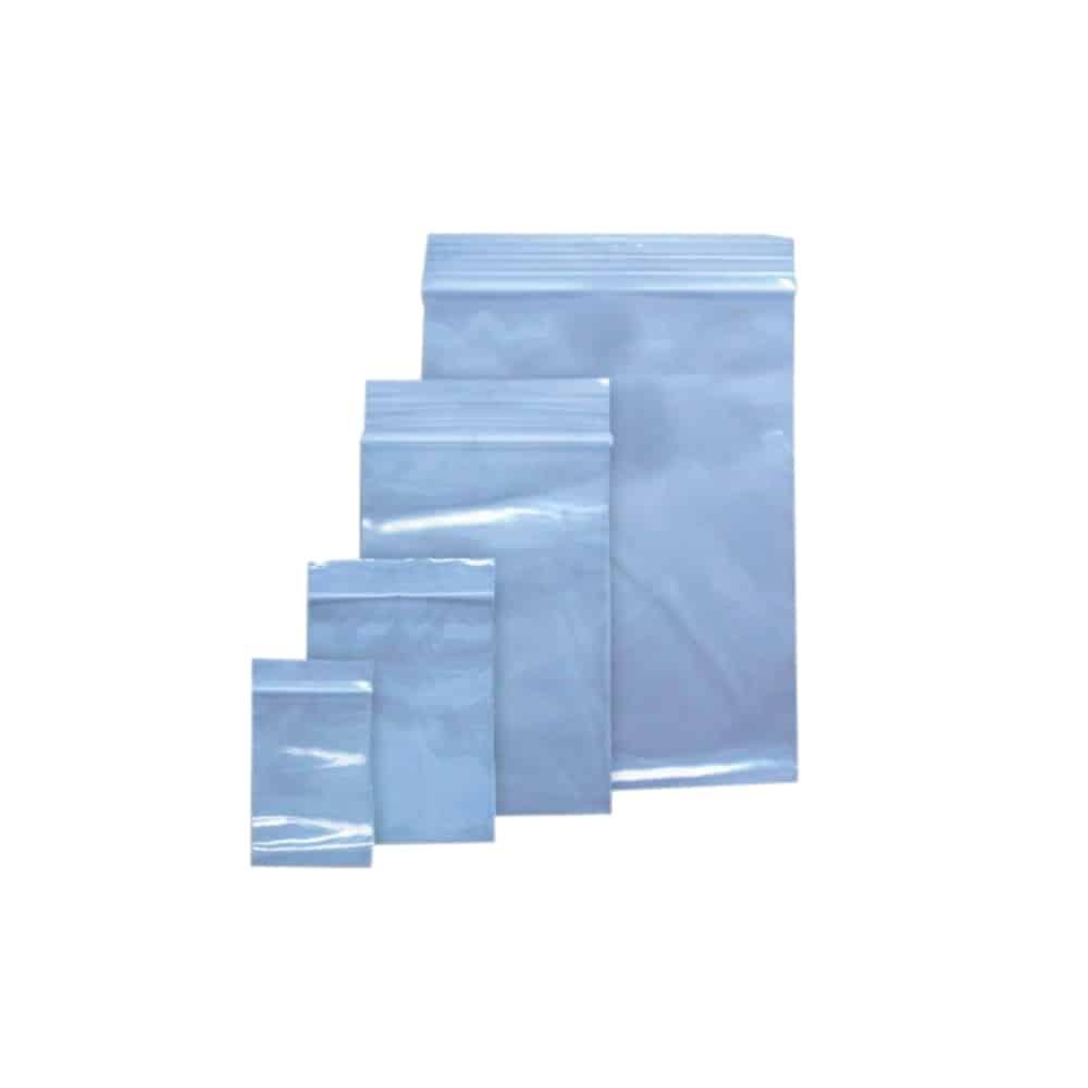 Pungi plastic cu fermoar pentru sigilare, 80 x 180 mm, 40 microni, 100 buc/set, DONAU