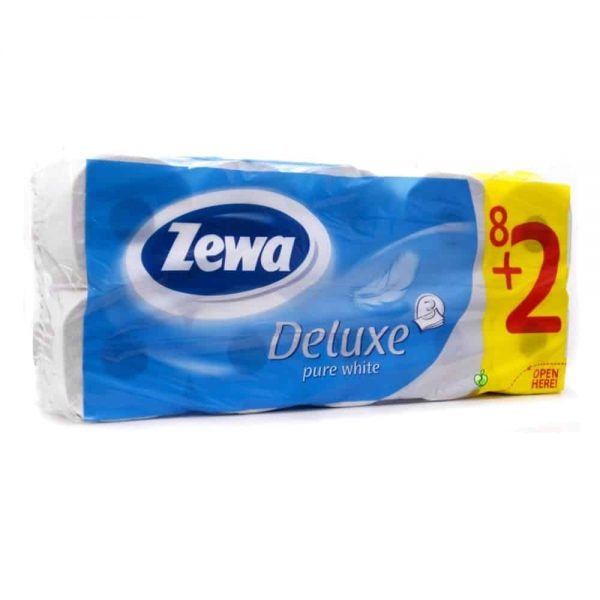 Hartie igienica Zewa Deluxe, 3 straturi, 8 role/set