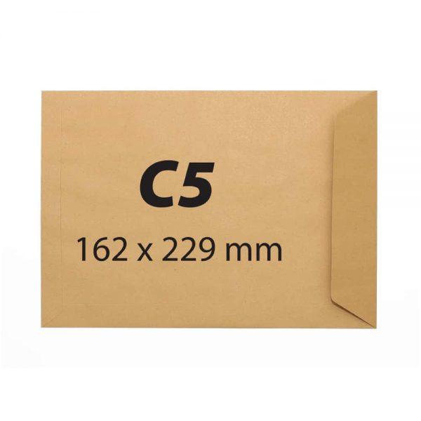 Plic C5, 162x229,kraft,siliconic,90g 500buc/cutie
