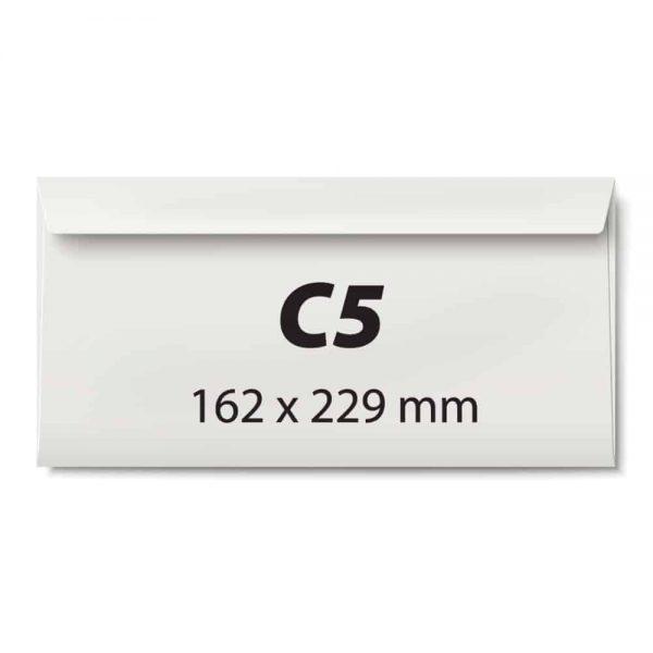 Plic C5, 162x229, offset alb,siliconic,80g clapa latura lunga, 25 buc/set