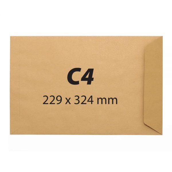 Plic C4 kraft siliconic, 229 x 324 mm, 90 g/mp, 25 bucati/set