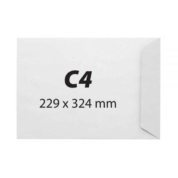 Plic C4 alb autoadeziv, 229 x 324 mm, 90 g/mp, 250 bucati/cutie