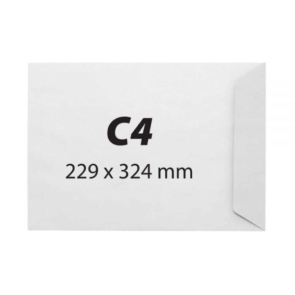 Plic C4, 229x324,offset alb,siliconic,100g, 25 buc /set