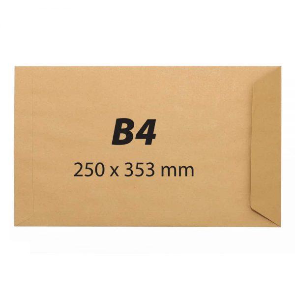 Plic B4, 250x353,kraft,siliconic,90g 25buc/set