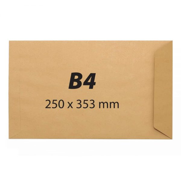 Plic B4, 250x353,kraft,siliconic,90g 250buc/cutie