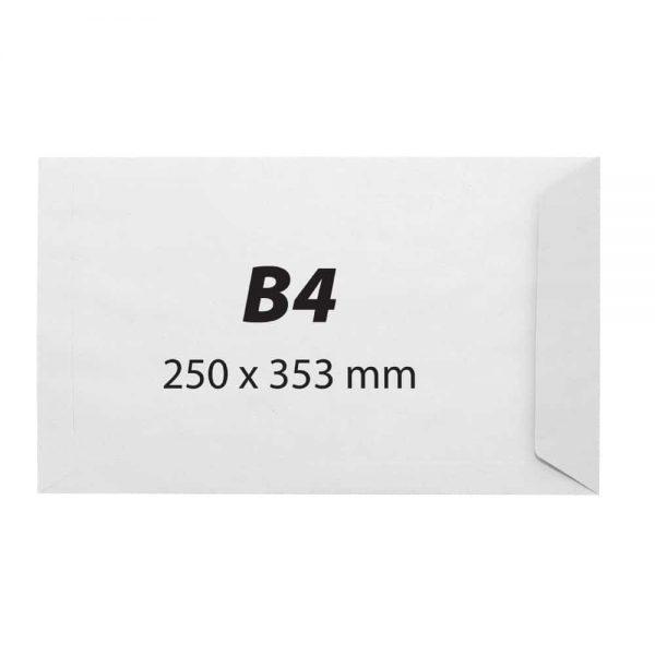 Plic B4, 250x353,offset alb,siliconic,100g 250 buc/ cutie