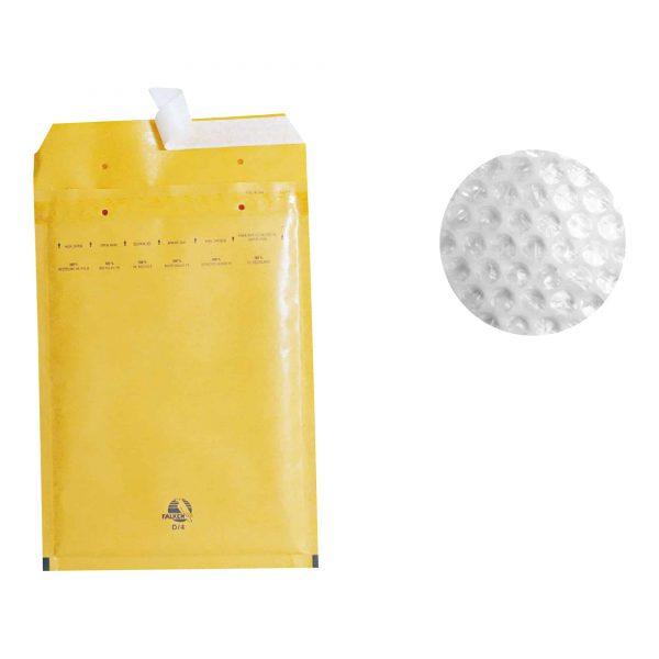 Plic cu protectie, 345 X 470, kraft, siliconic, 50 buc/cutie