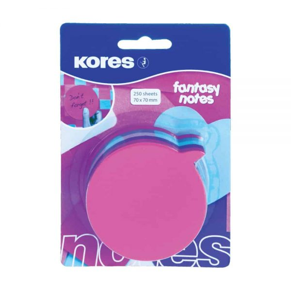"Notite adezive Kores ""Idee"", diverse culori, 250 file"