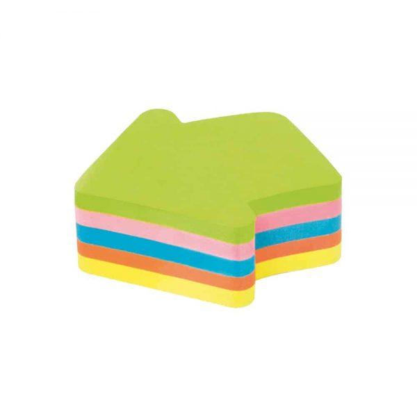 "Notite adezive Kores ""Sageata"", diverse culori, 250 file"
